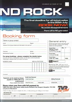 Click for booking form